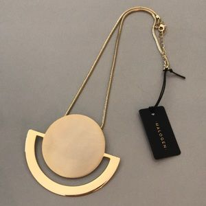 Halogen Disc Pendant Necklace